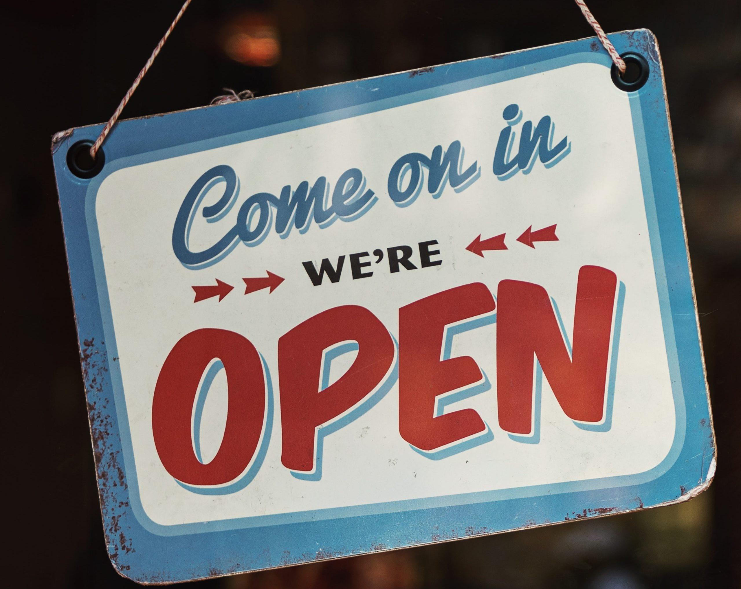 We're Open !
